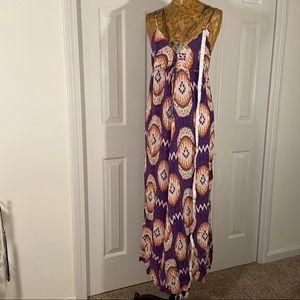 ruby & jenna V-Neck Spaghetti Strap Maxi Sun Dress